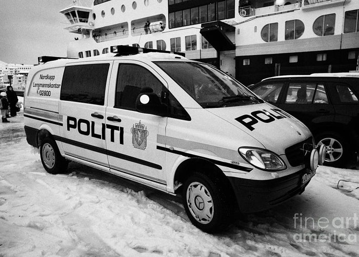 5f13dd63f0dce8 Norwegian Police Vehicle Outside Nordkapp Police Station Honningsvag ...