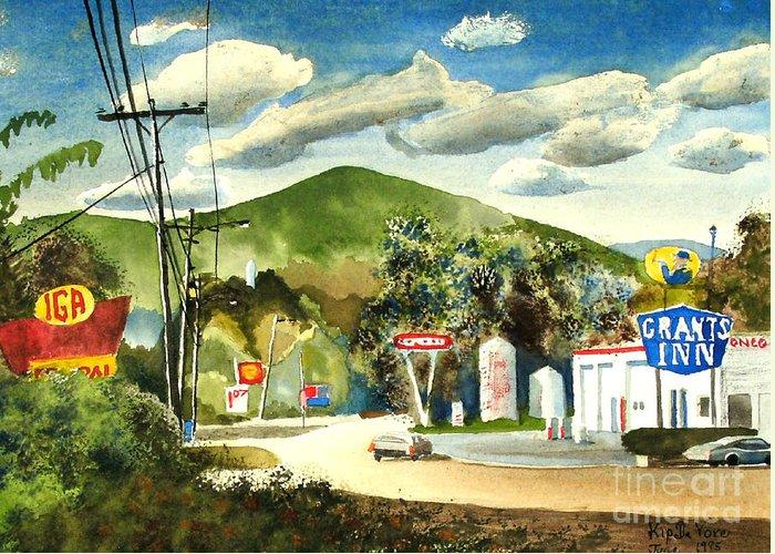 Nostalgia Arcadia Valley 1985 Greeting Card featuring the painting Nostalgia Arcadia Valley 1985 by Kip DeVore