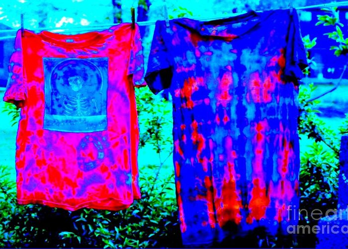Tie Dye Greeting Card featuring the photograph Not Fade Away - Tie Dye by Susan Carella