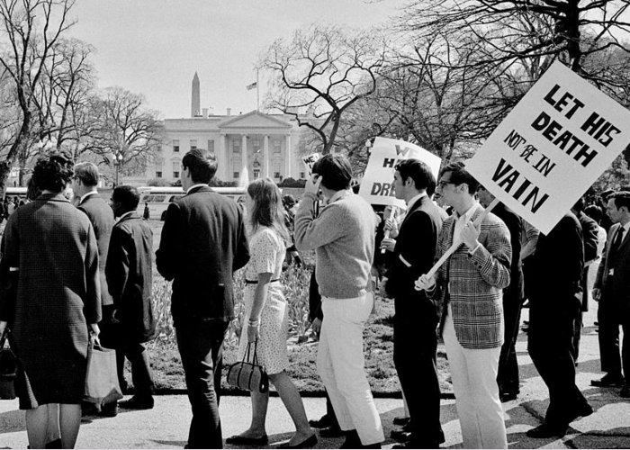 Civil Rights Greeting Card featuring the photograph Not In Vain by Benjamin Yeager