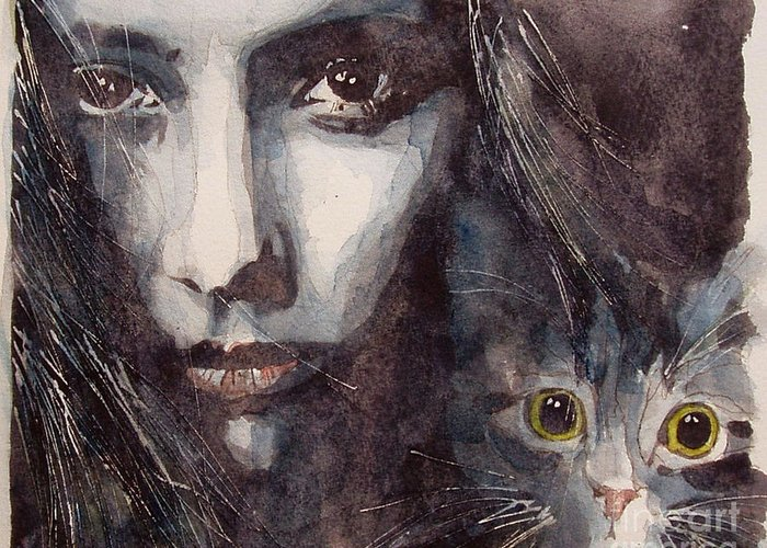 Cat Greeting Card featuring the painting Nothing Compares To You by Paul Lovering