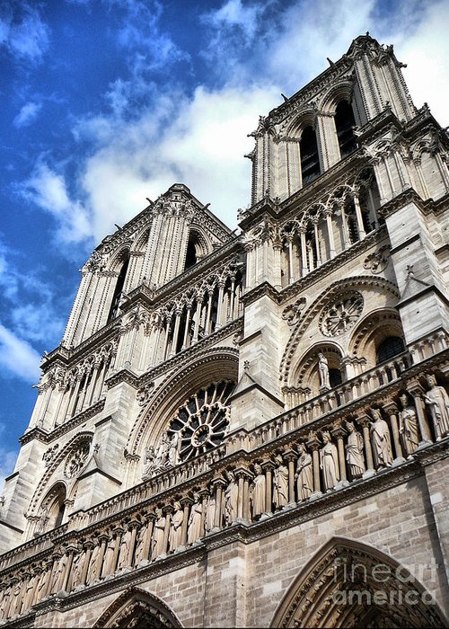 Notre Dame Greeting Card featuring the photograph Notre Dame Cathedral by Bora Denker