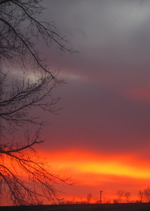 Sunset North Dakota Greeting Card featuring the photograph November 18 by Kim Eastwood