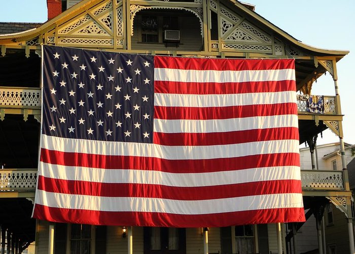 Usa Greeting Card featuring the photograph Now This Is A Flag by John Williams