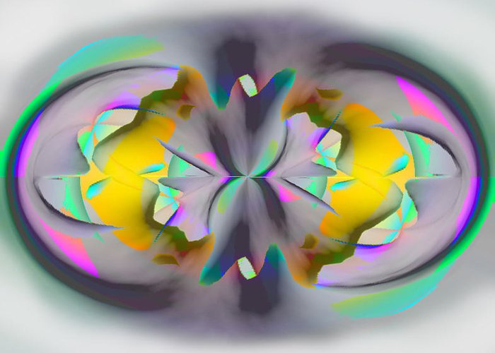 Abstract Greeting Card featuring the digital art Nr 2 by Elisabet Bondesson