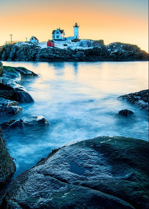 Cape Neddick Greeting Card featuring the photograph Nubble Light by Thomas Schoeller