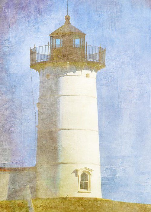 Light Greeting Card featuring the photograph Nubble Lighthouse by Carol Leigh