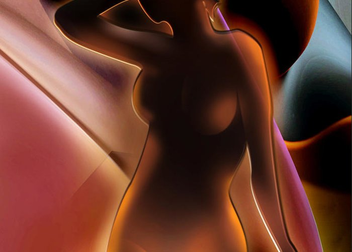 Nude Greeting Card featuring the painting Nude 4 by Christian Simonian