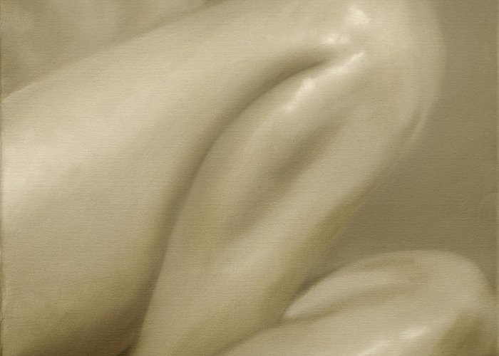 Nude Greeting Card featuring the painting Nude Study Vi by John Silver