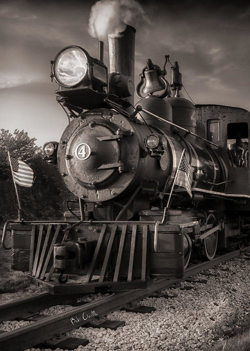 Trains Greeting Card featuring the photograph Number 4 Narrow Gauge Railroad by Bob Orsillo