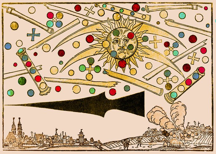 Science Greeting Card featuring the photograph Nuremberg Ufo 1561 by Science Source