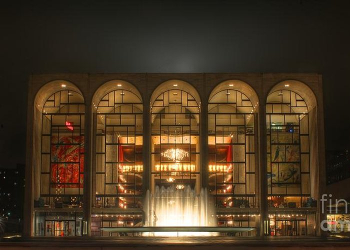 Attraction Greeting Card featuring the photograph Nyc Opera House by Jordan Conner