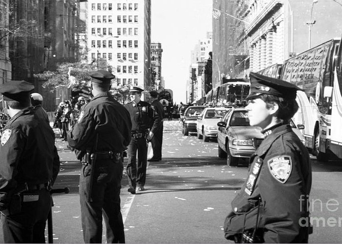 Nypd 1990s Greeting Card featuring the photograph Nypd 1990s by John Rizzuto