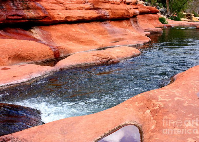 Sedona Greeting Card featuring the photograph Oak Creek At Slide Rock by Carol Groenen