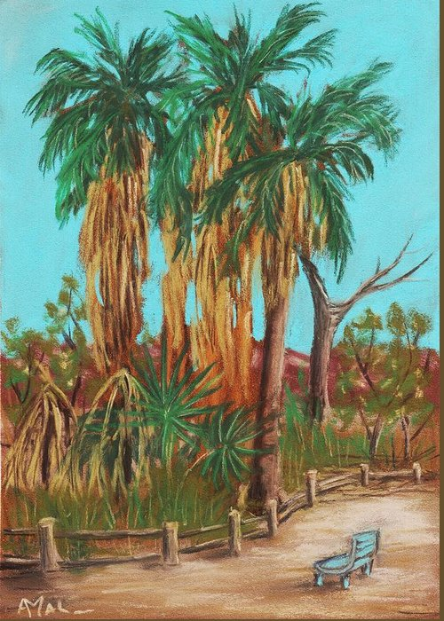 Plant Greeting Card featuring the painting Oasis by Anastasiya Malakhova