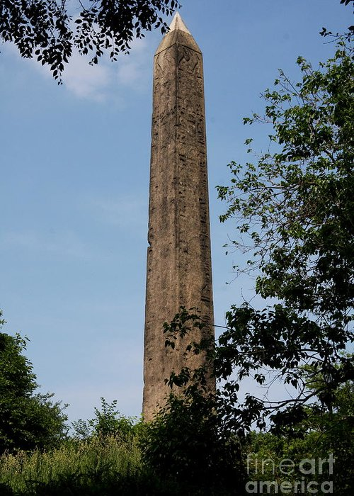 Obelisk Greeting Card featuring the photograph Obelisk - Central Park Nyc by Christiane Schulze Art And Photography