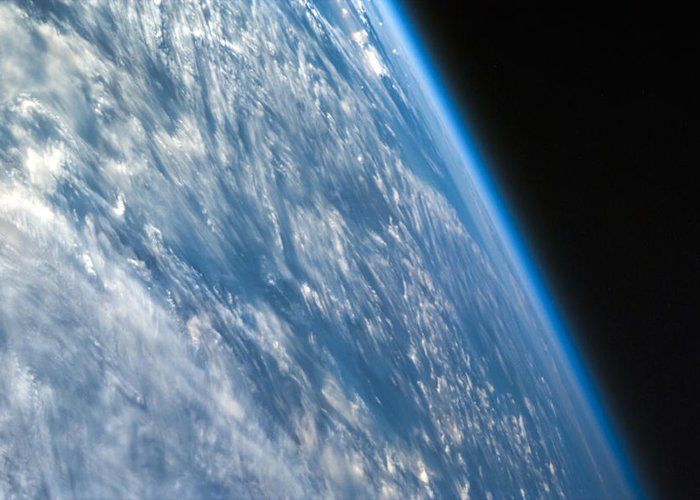 3scape Photos Greeting Card featuring the photograph Oblique Shot Of Earth by Adam Romanowicz