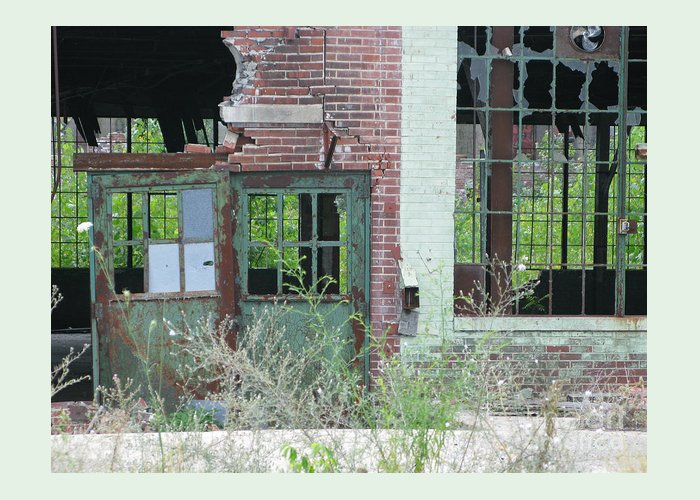 Factory Greeting Card featuring the photograph Obsolete by Ann Horn