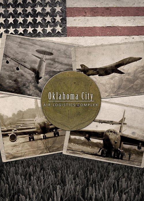 Oc-alc Greeting Card featuring the digital art Oc-alc Vintage by Reggie Saunders