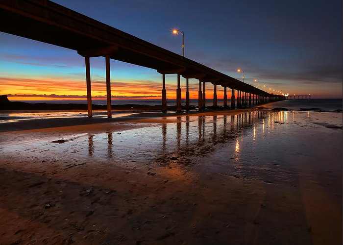 Larry Marshall Greeting Card featuring the photograph Ocean Beach California Pier 4 by Larry Marshall