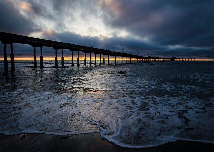 Ocean Greeting Card featuring the photograph Ocean Beach Pier 4 by William Murphy