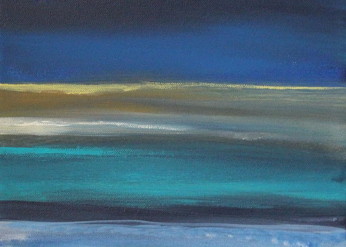 Abstract Painting Greeting Card featuring the painting Ocean Blue 2 by Linda Woods