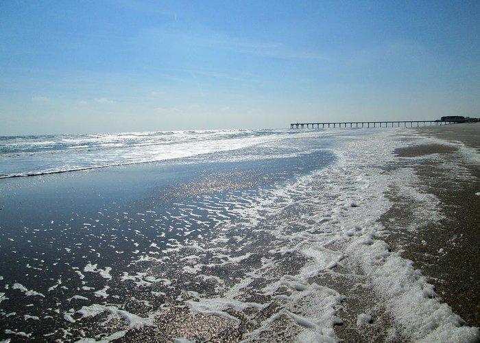 Ocean Greeting Card featuring the photograph Ocean Foam by Silvie Kendall