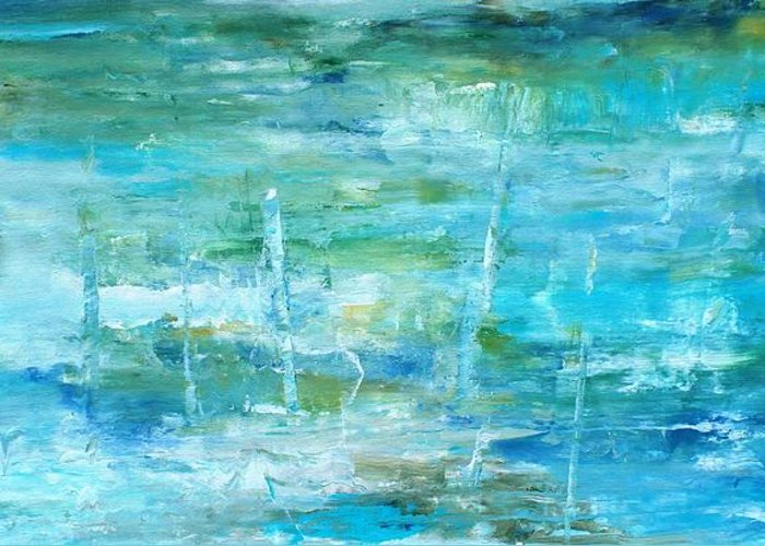 Pastel Greeting Card featuring the painting Ocean I by Tia Marie McDermid