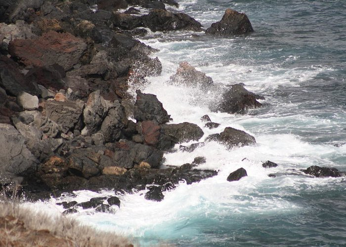 Shore Greeting Card featuring the photograph Ocean Mist by Pamela Smith