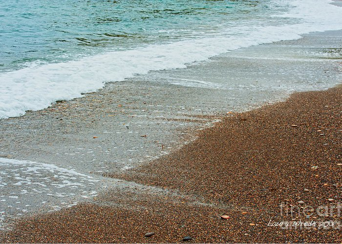 Ocean Greeting Card featuring the photograph Ocean Wave Color Palette by Artist and Photographer Laura Wrede