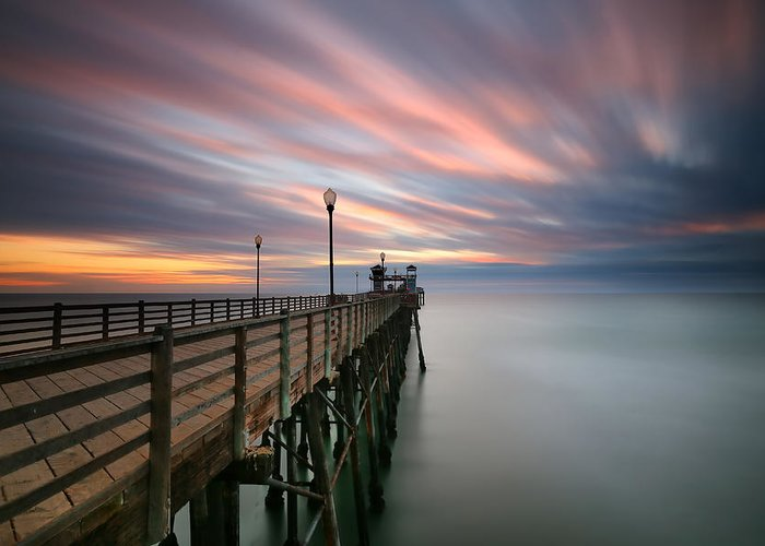 Larry Marshall Greeting Card featuring the photograph Oceanside Sunset 14 by Larry Marshall