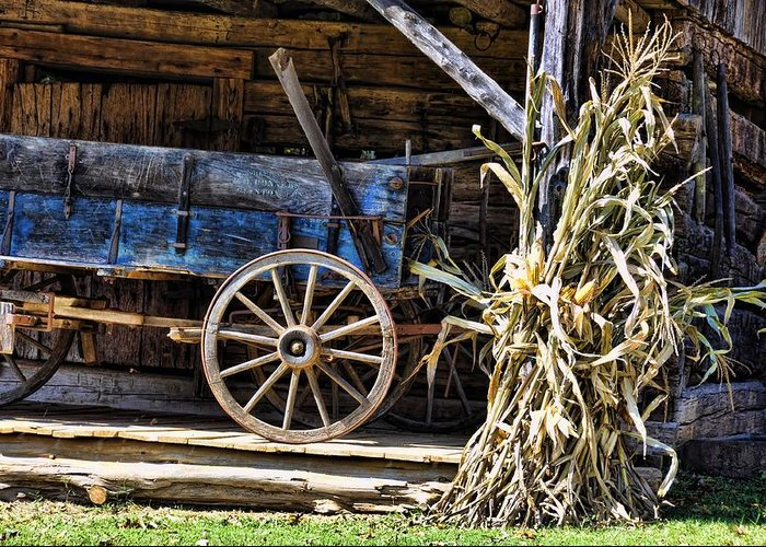 Still Life Greeting Card featuring the photograph October Barn by Jan Amiss Photography
