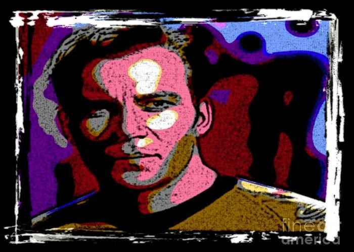 Star Trek Canvas Prints Greeting Card featuring the digital art Ode To Star Trek by John Malone
