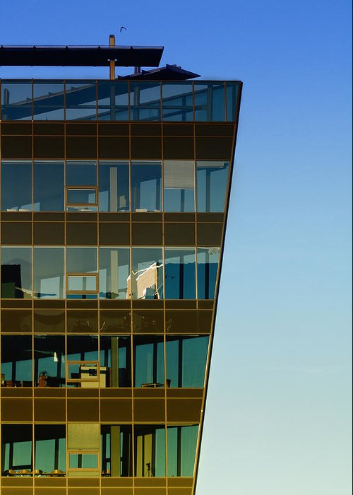 Window Greeting Card featuring the photograph Office by Kent Mathiesen