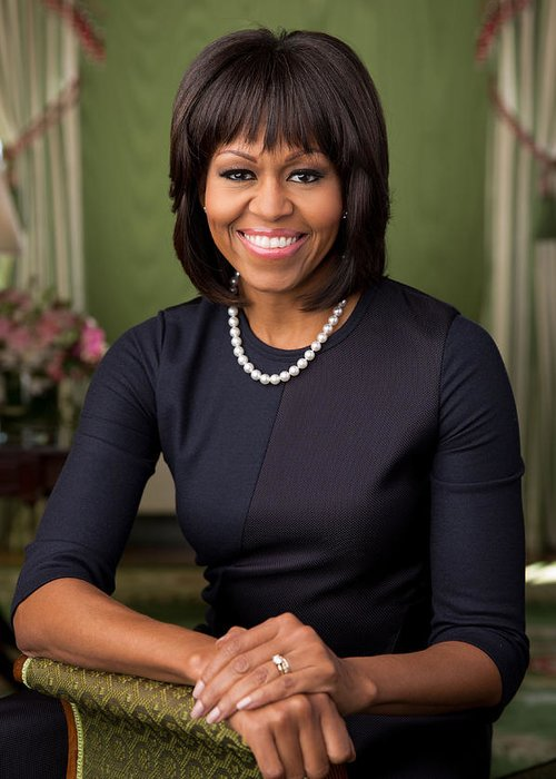 Michelle-obama Photographs Greeting Cards