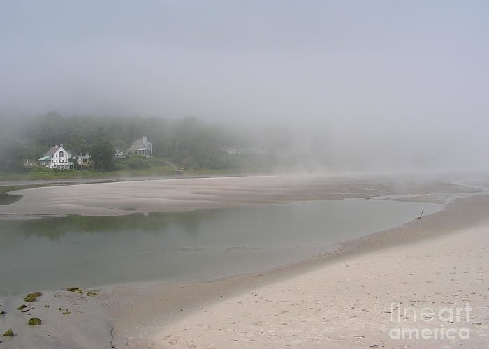Landscape Greeting Card featuring the photograph Ogunquit River Maine by Joy Bradley