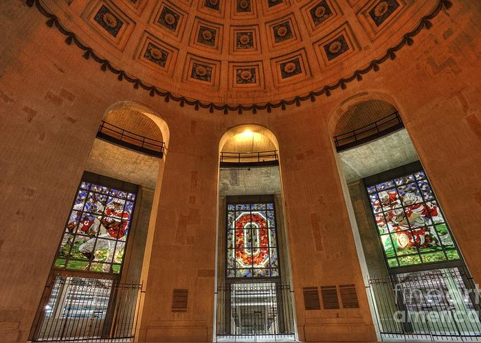 The Ohio State University Greeting Card featuring the photograph Ohio Stadium by David Bearden