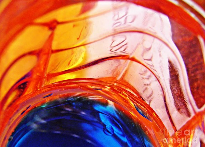Abstract Greeting Card featuring the photograph Oil And Water 26 by Sarah Loft