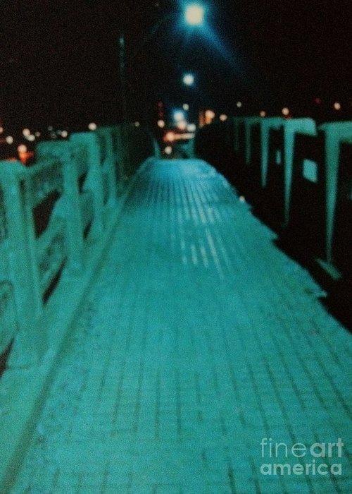Okc Greeting Card featuring the photograph Okc Bridge by Diane Phelps
