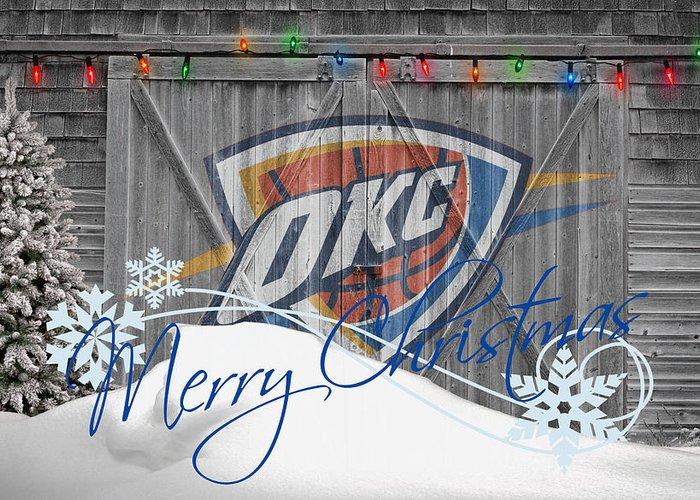 Thunder Greeting Card featuring the photograph Oklahoma City Thunder by Joe Hamilton