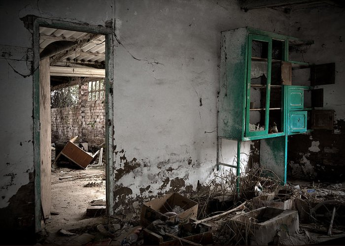 Old Greeting Card featuring the photograph Old Abandoned Kitchen by RicardMN Photography