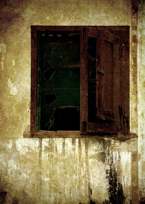 Grunge Greeting Card featuring the photograph Old And Decrepit Window by RicardMN Photography