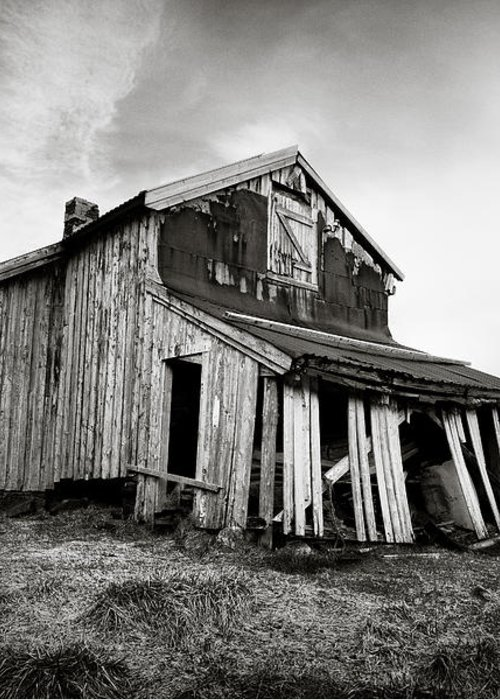 Barn Greeting Card featuring the photograph Old Barn by Dave Bowman