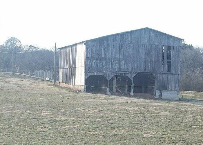 Old Barns Greeting Card featuring the photograph old barn in east Tennessee by Kristy Cotone