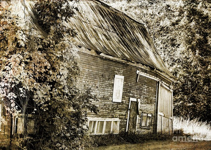 Barn Greeting Card featuring the photograph Old But Not Forgotten by Deborah Benoit