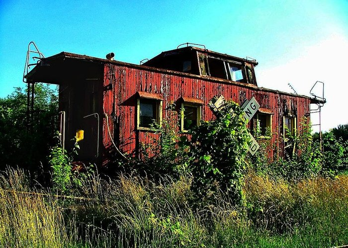 Caboose Greeting Card featuring the photograph Old Caboose by Julie Dant