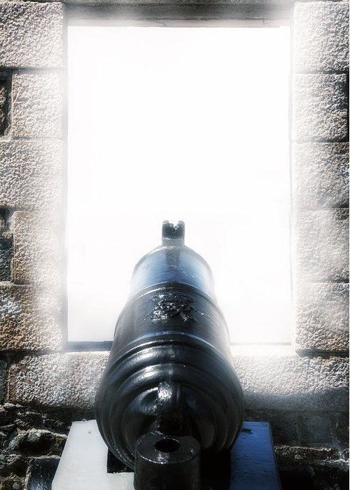 Iron Greeting Card featuring the photograph Old Cannon by Joana Kruse