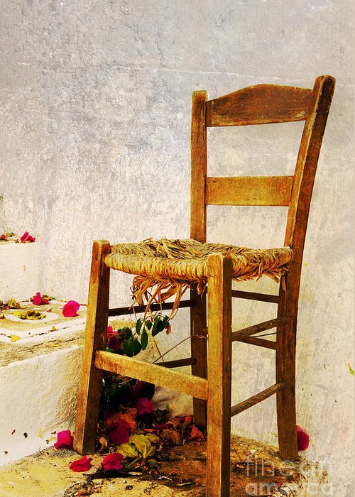 Old Chair Greeting Card featuring the digital art Old Chair by Christos Dimou