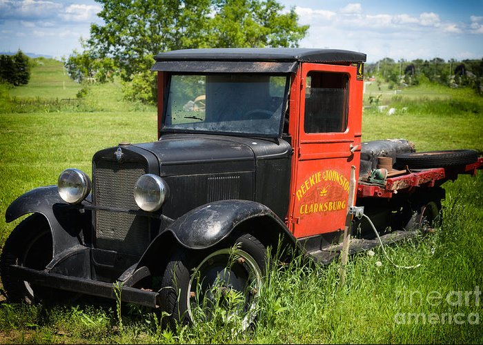 Old Greeting Card featuring the photograph Old Chevrolet Truck by Les Palenik