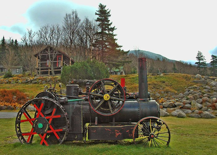 Transportation Greeting Card featuring the photograph Old Cog by Joann Vitali